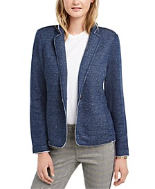 French Terry Knit Blazer