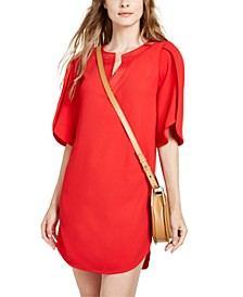 Clairette Tulip-Sleeve Shift Dress