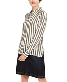 I.N.C. Striped Button-Down Shirt, Created for Macy's