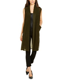 Alfani Pleated Mesh Vest, Created for Macy's