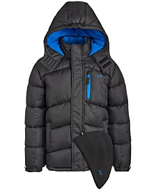 CB Sports Toddler Boys 2-Pc. Puffer Jacket & Hat Set