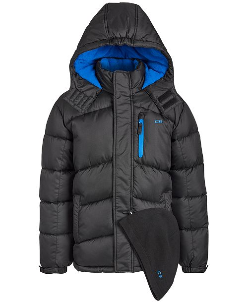 CB Sports Little Boys 2-Pc. Puffer Jacket & Hat Set