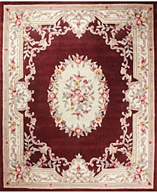 "CLOSEOUT!  Palace Garden Aubusson Burgundy 3'6"" x 5'6"" Area Rug"