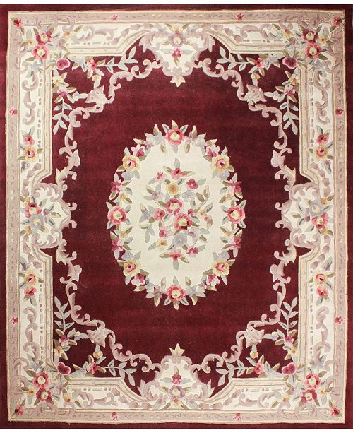 "KM Home CLOSEOUT!  Palace Garden Aubusson Burgundy 3'6"" x 5'6"" Area Rug"