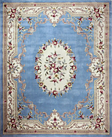 CLOSEOUT!  KM Home Palace Garden Aubusson Light Blue 8' x 10' Area Rug