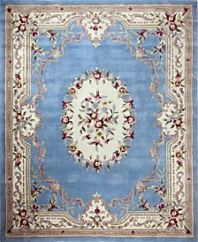 KM Home Palace Garden Aubusson Light Blue Area Rug Collection