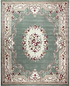 "CLOSEOUT!  Palace Garden Aubusson Sage 3'6"" x 5'6"" Area Rug"