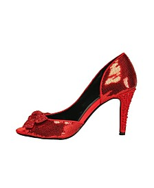 "Women's 4"" Sequin Shoes with Cut out"