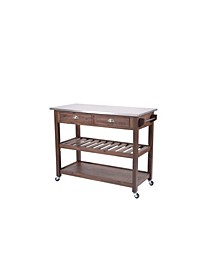 Sonoma Collection Kitchen Cart with Stainless Steel Top