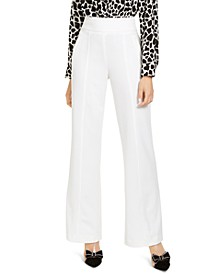 INC High-Waist Wide-Leg Trouser Pants, Created for Macy's