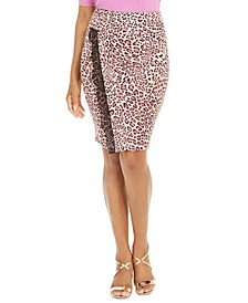 Lace-Trim Leopard-Print Skirt, Created for Macy's
