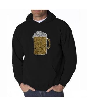 La Pop Art Men's Word Art Hooded Sweatshirt - Slang Terms For Being Wasted