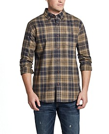 Men's Brushed Flannel Plaid Shirt
