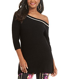 Asymmetric-Shoulder Sweater, Created for Macy's