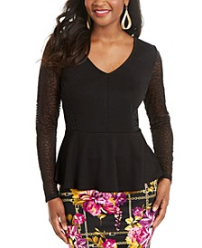 Leopard Print Lace Top, Created For Macy's