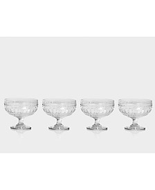 Euro Ceramica Fez Footed Compote Glasses, Set of 4