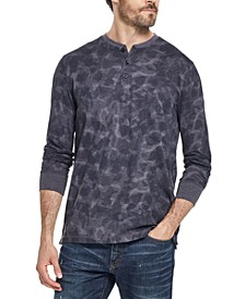 Men's Abstract Print Henley