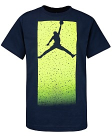 Jordan Big Boys Cotton Glow-In-The-Dark Jumpman Logo T-Shirt