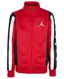 Jordan Big Boys Colorblocked Mesh-Trim Tricot Jacket
