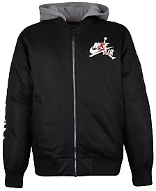 Jordan Big Boys Hooded Bomber Jacket