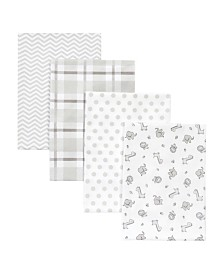 Trend Lab Chevron Safari Receiving Blanket 4-Pack