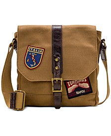 Men's Canvas Patch Crossbody Bag
