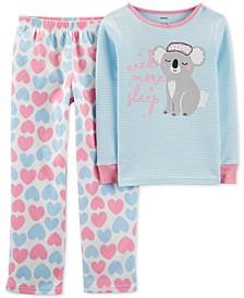 Little & Big Girls 2-Pc. Koala Pajama Set