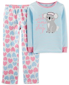 Carter's Little & Big Girls 2-Pc. Koala Pajama Set