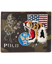 Polo Ralph Lauren Men's Collector's Leather Camo Card Case