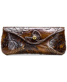 Patricia Nash Bark Leaves Ardenza Leather Sunglasses Case