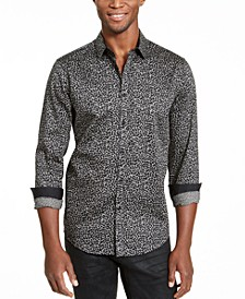 INC Men's Caden Abstract Print Shirt, Created for Macy's