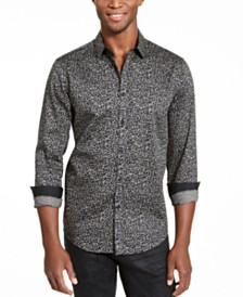 I.N.C. Men's Caden Abstract Print Shirt, Created for Macy's