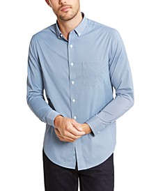 Men's Regular-Fit Stretch Mini-Gingham Check Shirt, Created For Macy's