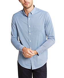 Club Room Men's Regular-Fit Performance Stretch Mini-Gingham Check Shirt, Created For Macy's