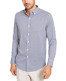 Men's Regular-Fit Stretch Gingham Check Shirt, Created For Macy's