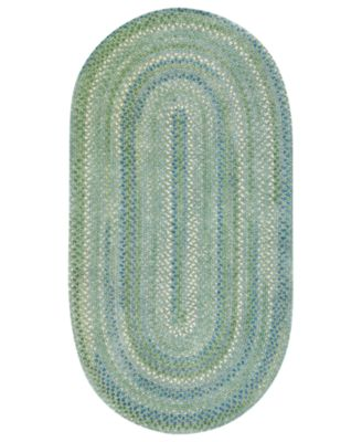 Area Rug, Sailor Boy Oval Braid 0470-200 Sea Monster 8' x 11'