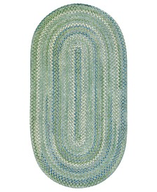 Capel Area Rug, Sailor Boy Oval Braid 0470-200 Sea Monster 7' x 9'