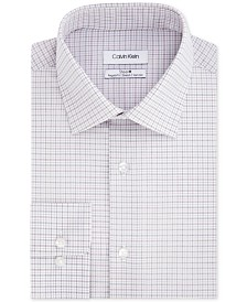 Calvin Klein Men's STEEL Classic/Regular Fit Non-Iron Performance Stretch Check Dress Shirt