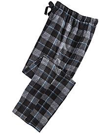 Perry Ellis Men's Windowpane Plaid Fleece Pants