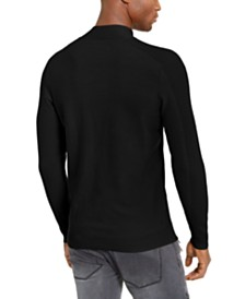 I.N.C. Men's Ribbed Button Neck Sweater, Created For Macy's