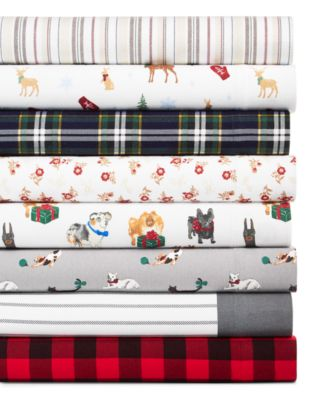 Printed Cotton Flannel Standard Pillowcase, Created for Macy's