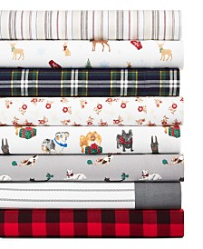Martha Stewart Collection Printed Cotton Flannel Sheet Sets, Created for Macy's