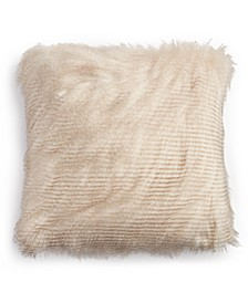 """Longhair Faux Fur 20"""" x 20"""" Decorative Pillow, Created For Macy's"""