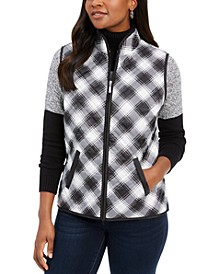 Plaid Puffer Vest, Created for Macy's