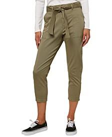 Juniors' Billion Belted Cropped Pants