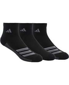 adidas 3-Pk. Men's Superlite Quarter Socks