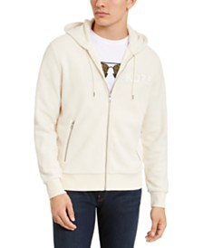 Michael Kors Men's Sherpa Logo Full-Zip Hoodie