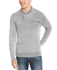 I.N.C. Men's Echo Shawl Collar Zip Sweater, Created For Macy's
