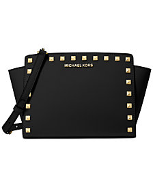 Michael Michael Kors Selma Leather Stud Crossbody
