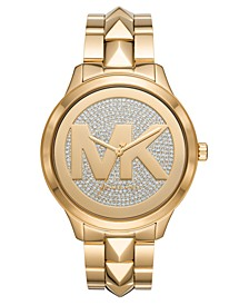Women's Runway Mercer Gold-Tone Stainless Steel Bracelet Watch 44mm